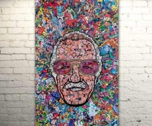 Stan lee wall painting canvas gift idea for marvel fans