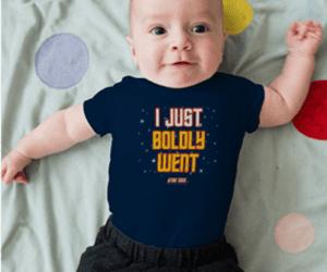 baby onesie Star Trek Gifts for Kids