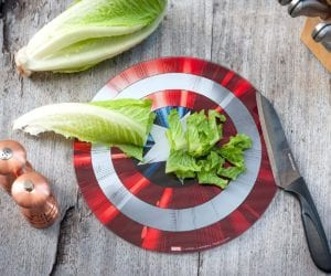 Captain America Shield Cutting Board Marvel fans gift ideas