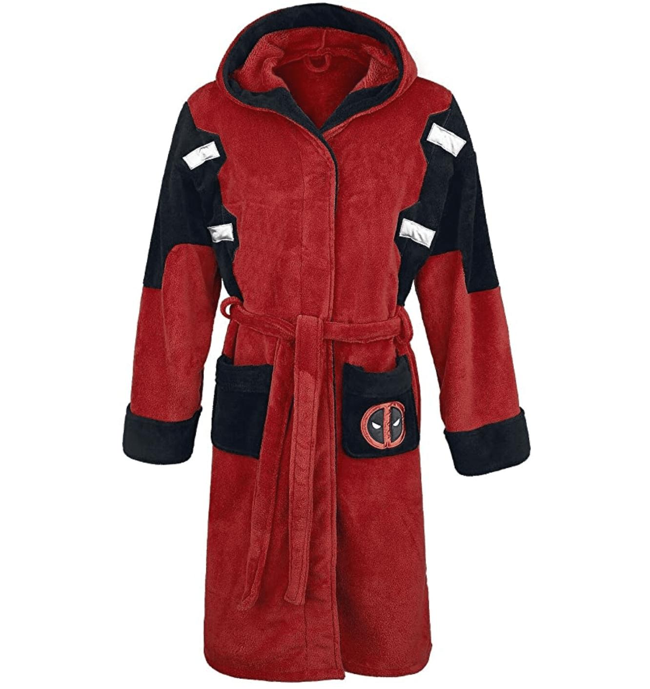 deadpool gift idea bathrobe