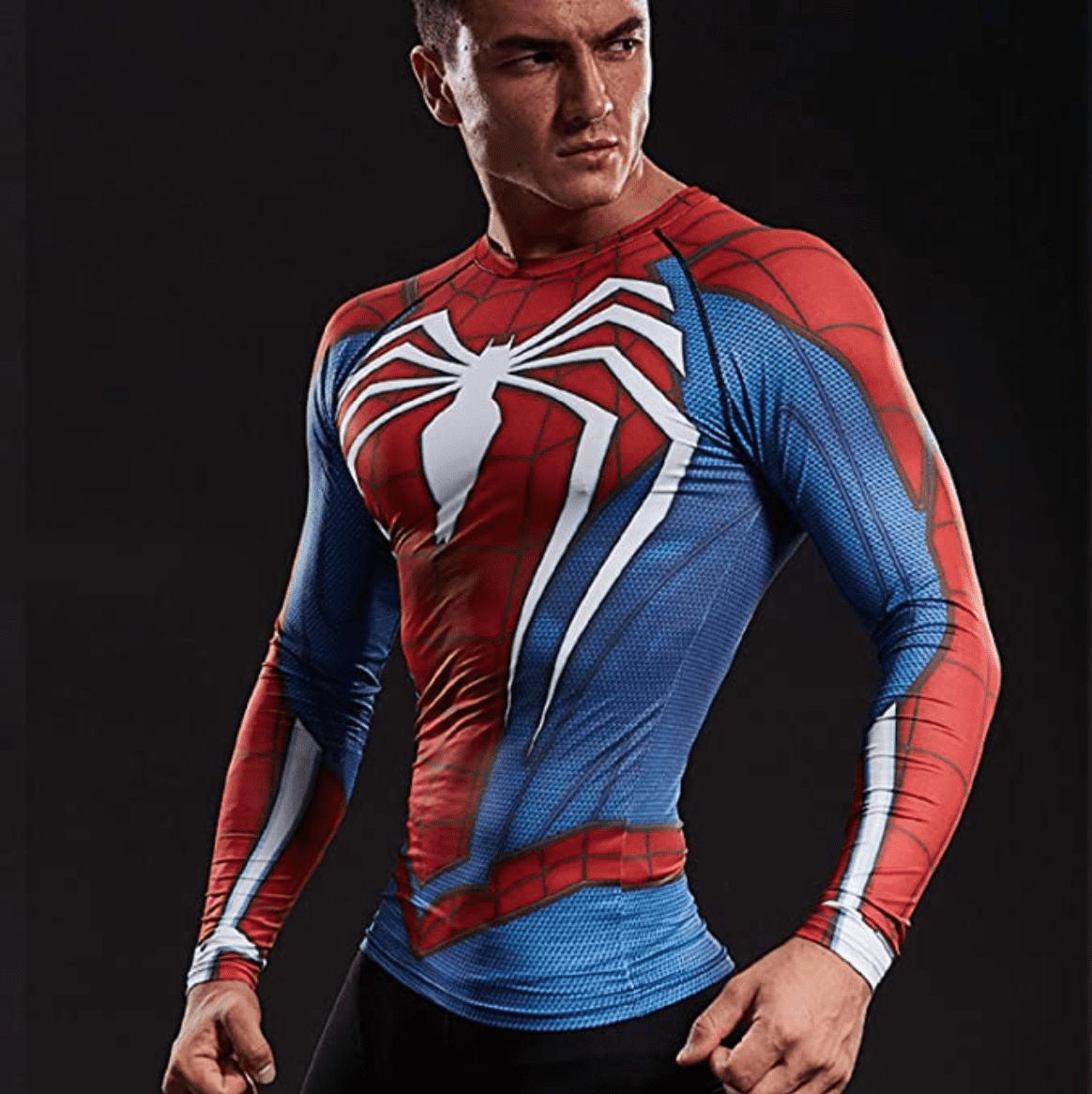 spiderman geek gifts compression fitness top