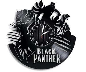 Black panther gifts clock Marvel wall vinyl