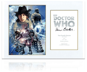 Dr Who Signed Tom Baker Poster Gift 1