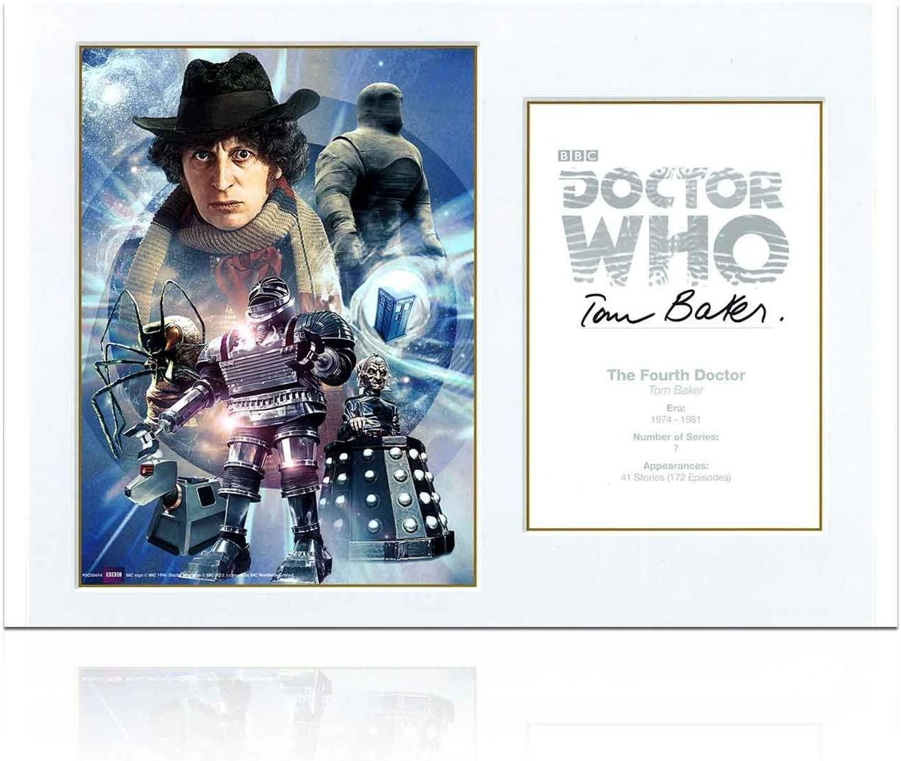 Dr Who Signed Tom Baker Poster Gift