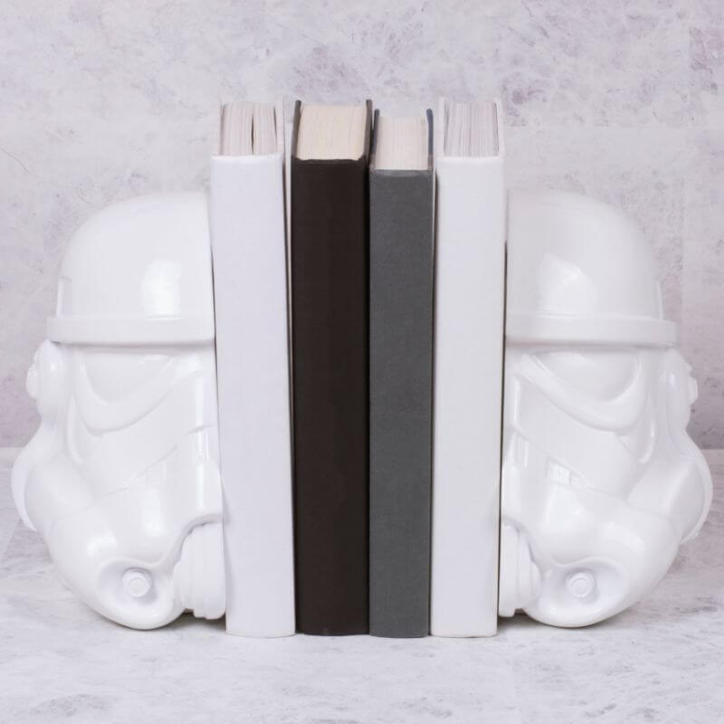 gift star wars bookends stormtrooper