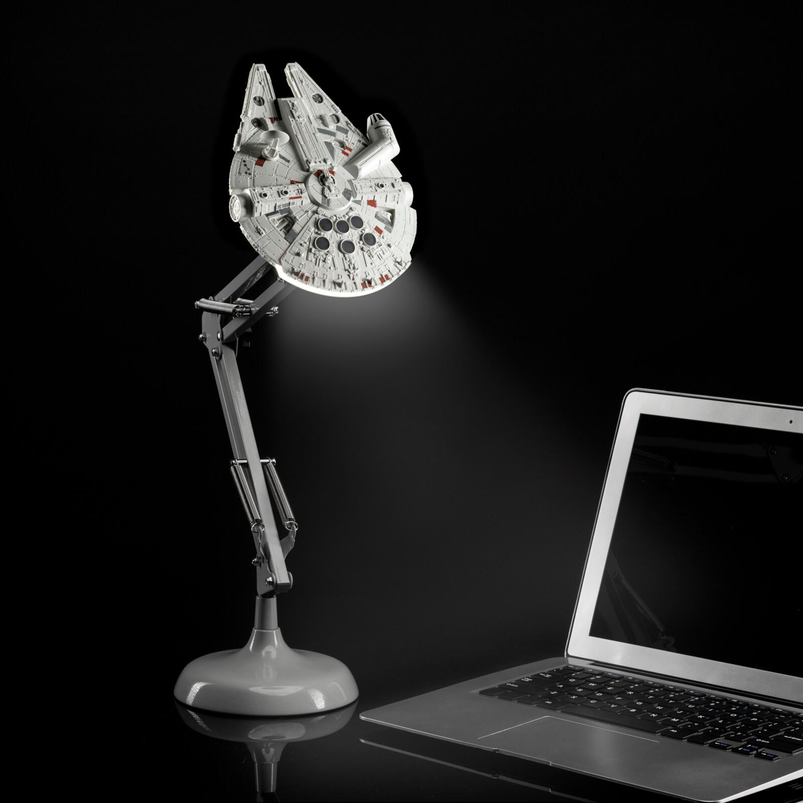 millenium falcon gift ideas star wars desk lamp