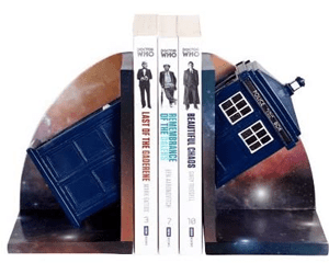 tardis book ends gifts for tardis fans