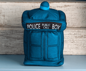 tardis dr who door stop toy gift nerds